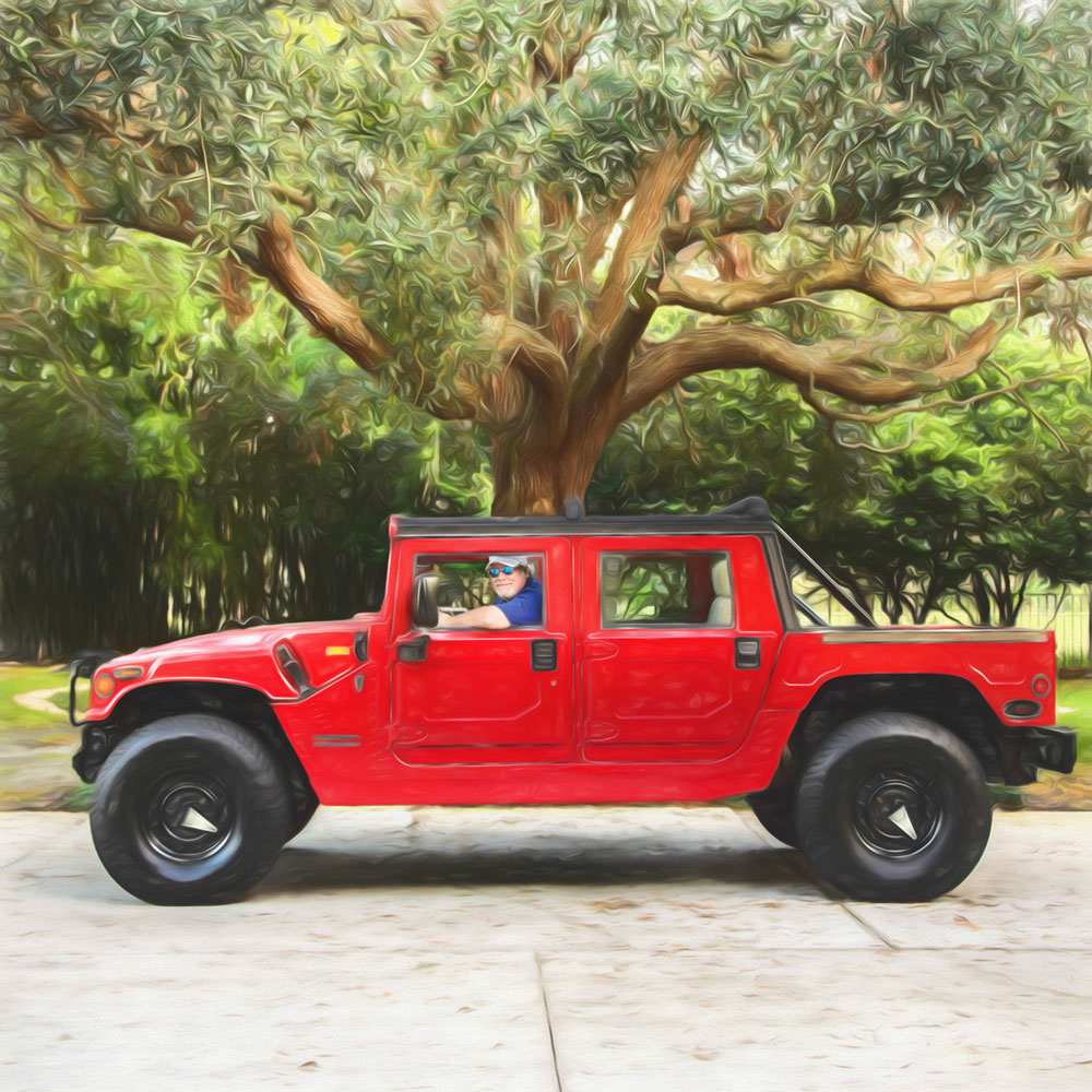 Mike & the red hummer